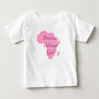"""Precious African Girl"" Pink African Continent Baby T-Shirt"