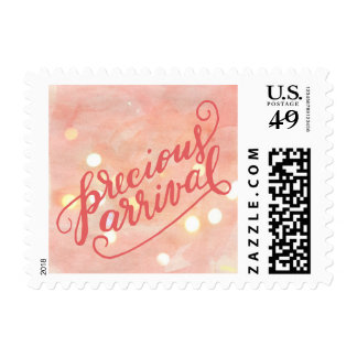 Precious Arrival Cute Baby Girl Birth Announcement Postage
