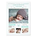 """Precious Arrival Photo Birth Announcement 5"""" X 7"""" Invitation Card"""