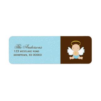 Precious Baby Boy Christening Label
