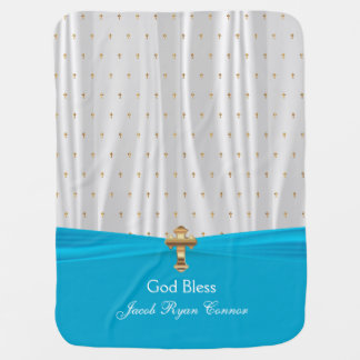 Precious Baby Christening   Baptism   Personalize Receiving Blanket