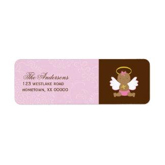 Precious Baby Girl Christening Label