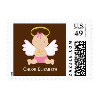 Precious Baby Girl Christening Stamp