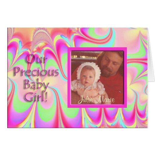 Precious Baby Girl Photo Card