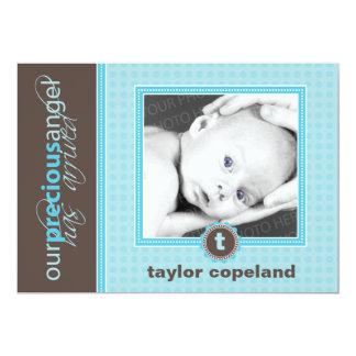 """Precious Baby Modern Birth Announcement 5"""" X 7"""" Invitation Card"""