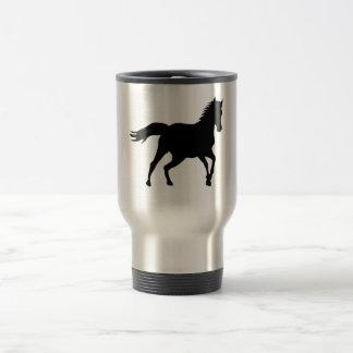 precious black horse travel mug