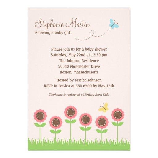 Precious Blooms Baby Shower Invitation