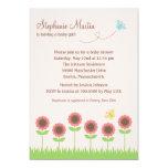"Precious Blooms Baby Shower Invitation 5"" X 7"" Invitation Card"