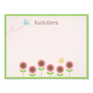 Precious Blooms Flat Thank You Card
