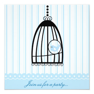 Precious Blue Bird Party Invitation