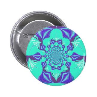 Precious blue 2 inch round button