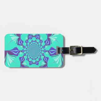 Precious blue tags for luggage