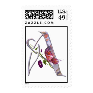 Precious Butterfly Initial A Postage Stamp