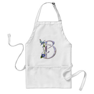 Precious Butterfly Initial B Adult Apron
