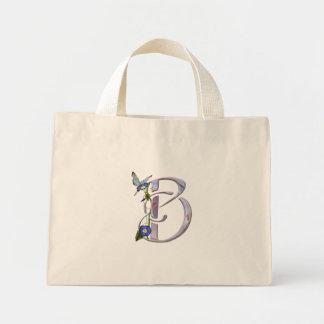 Precious Butterfly Initial B Mini Tote Bag
