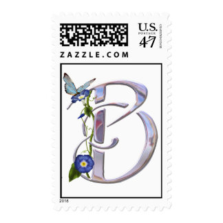 Precious Butterfly Initial B Postage