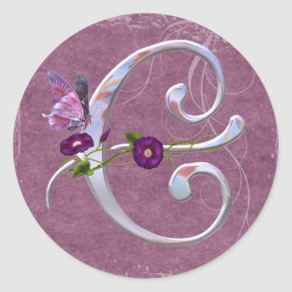 Precious Butterfly Initial C Stickers