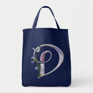 Precious Butterfly Initial D Tote Bag