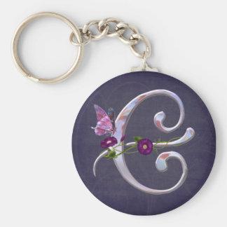 Precious Butterfly Initial E Key Chain