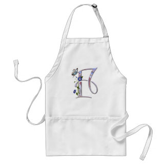 Precious Butterfly Initial F Adult Apron