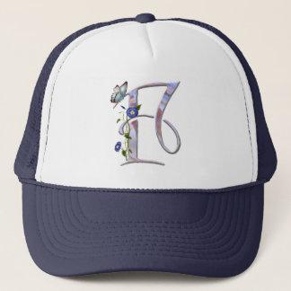 Precious Butterfly Initial F Trucker Hat