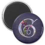 Precious Butterfly Initial G 2 Inch Round Magnet