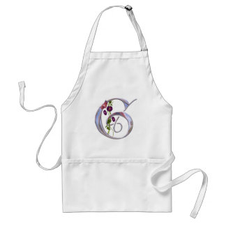 Precious Butterfly Initial G Adult Apron