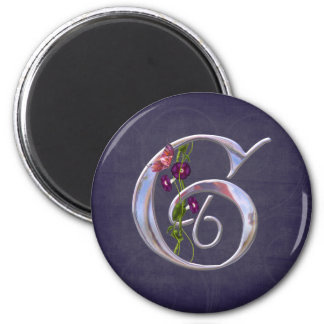 Precious Butterfly Initial G Refrigerator Magnet