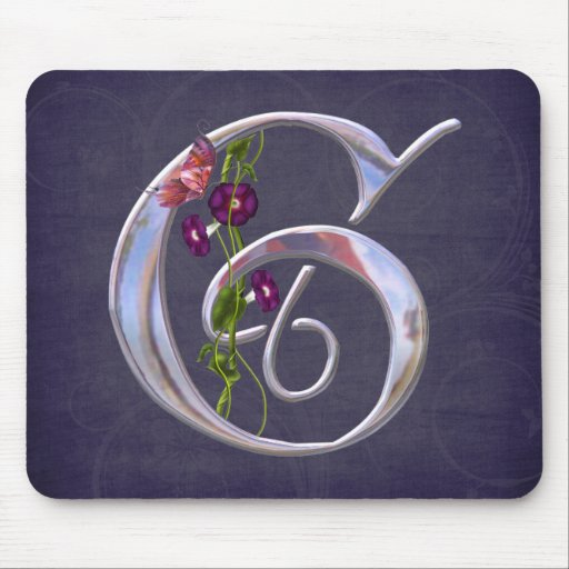 Precious Butterfly Initial G Mouse Pad