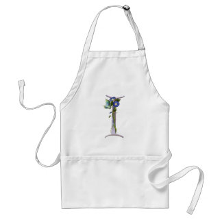 Precious Butterfly Initial I Adult Apron