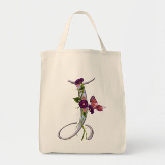 Precious Butterfly Initial J Tote Bag