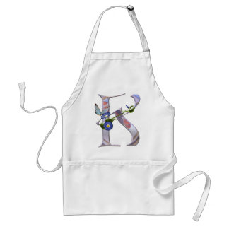 Precious Butterfly Initial K Adult Apron