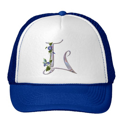 Precious Butterfly Initial L Trucker Hat