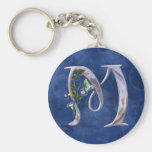 Precious Butterfly Initial M Keychain