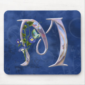 Precious Butterfly Initial M Mouse Pad