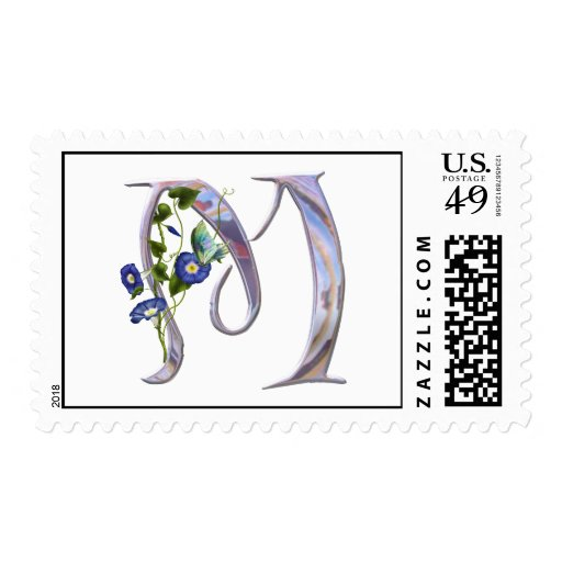 Precious Butterfly Initial M Stamps