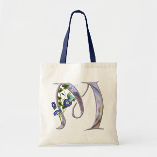 Precious Butterfly Initial M Tote Bag