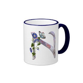 Precious Butterfly Initial N Ringer Mug