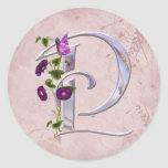 Precious Butterfly Initial P Classic Round Sticker