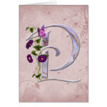 Precious Butterfly Initial P Greeting Card