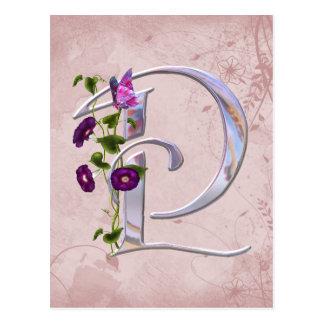 Precious Butterfly Initial P Postcard