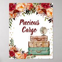 Precious Cargo Sign Travel Bridal Shower Poster