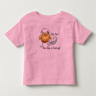 Precious Chicken Little The Sky Is Falling Design Toddler T-shirt