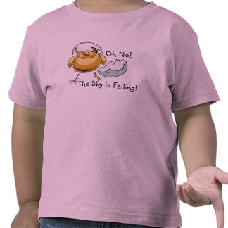 Precious Chicken Little The Sky Is Falling Design Tee Shirts