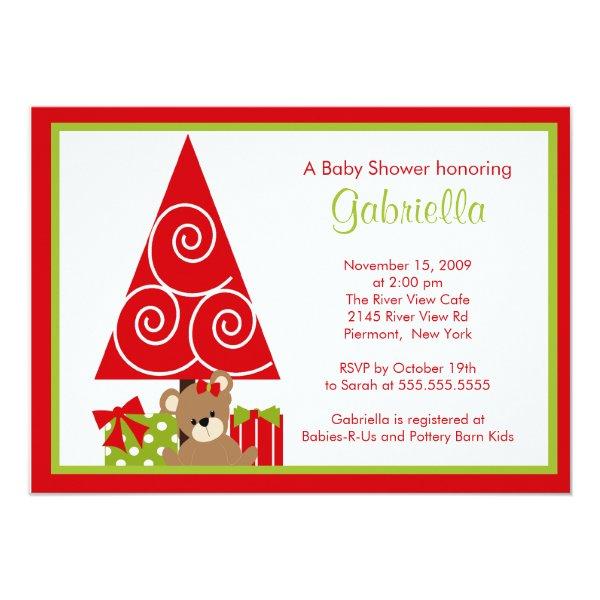 Precious Christmas Holiday Baby Shower Invitation
