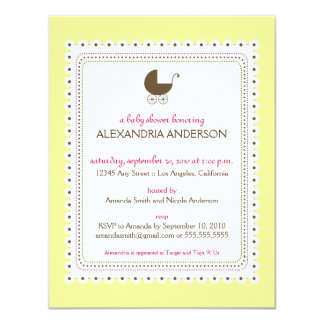 Precious Creme Custom Baby Shower Invitation