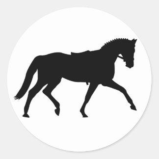 precious dressage horse classic round sticker