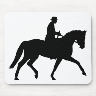 precious dressage horse with rider mouse pad