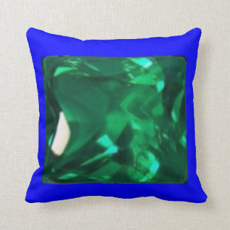 Precious Emerald Pillow Blue Trimmed by SHARLES
