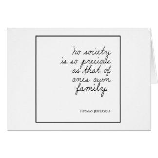 Precious Family Quote Card